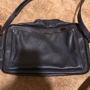 Zara navy bag with zipper